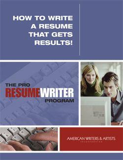 The Pro Resume Writer Program Writing Guides Pinterest Resume