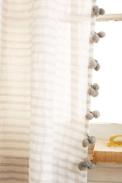 Pom Tassel Curtain Tassel Curtains Pom Pom Curtains Nursery Curtains