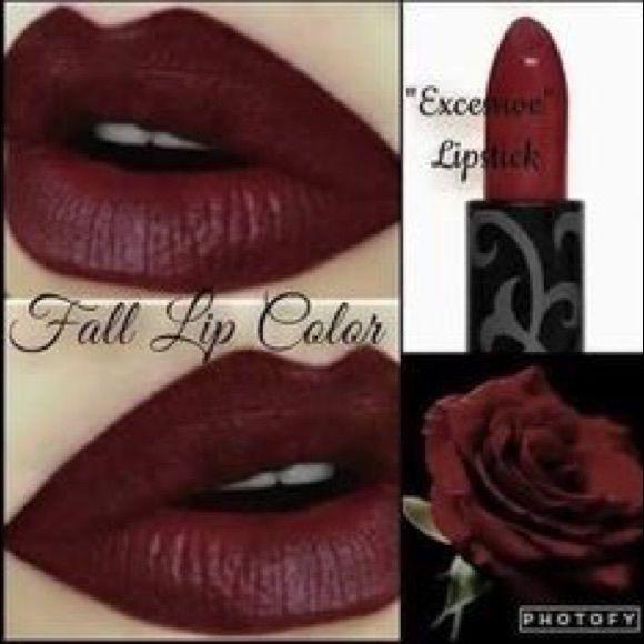 Younique Excessive Lipstick Beautiful Deep Wine Red Lipstick