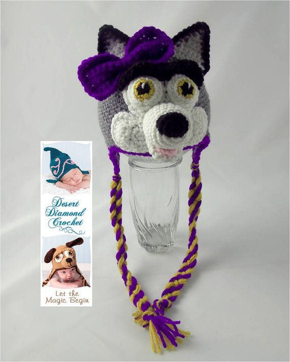 Universidad de Washington Husky Earflap gorrita tejida - a pedido ...
