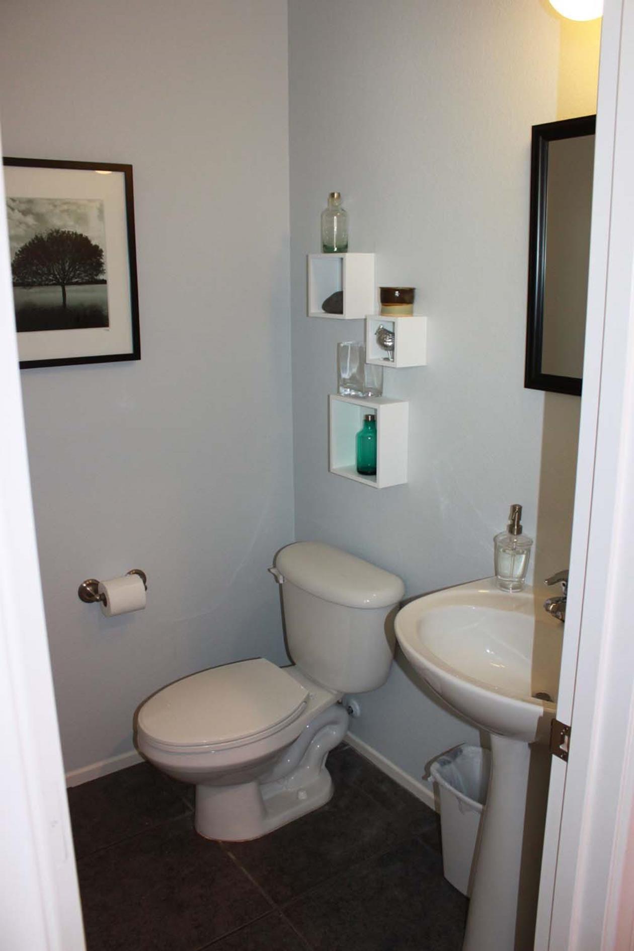 Gray Half Bathroom Decorating Ideas On A Budget 36 Half Bathroom