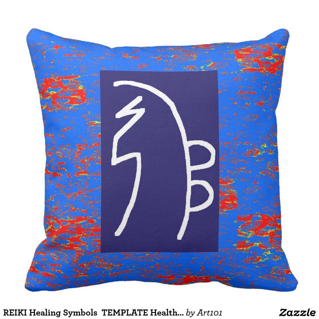REIKI Healing Symbols TEMPLATE Health Wellbeing Throw Pillow | 101 ...