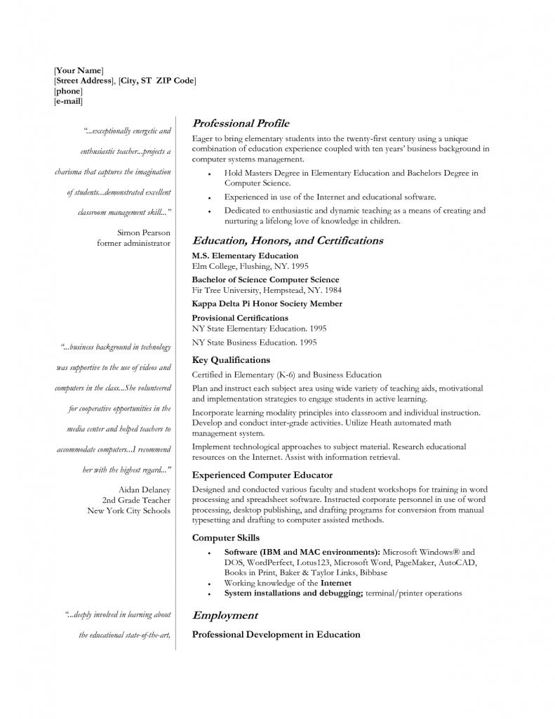 teacher profile resume economics example spanish essay samples template