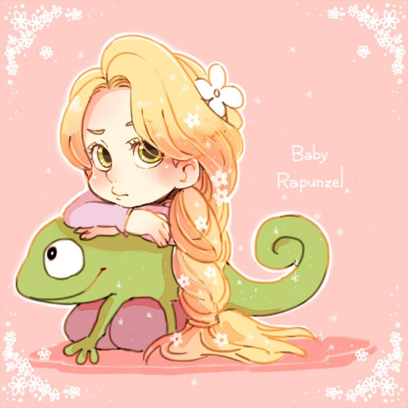 Little raiponce et pascal disney in general pinterest raiponce princesse disney and disney - Raiponce petite ...