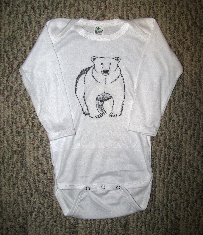 Bear Onesie Polar Bear Onesie Cute Baby Onesie Unique Baby Onesie