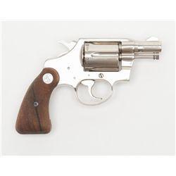 """Colt Detective Special DA revolver, .38 Special cal., 2"""" barrel, nickel finish,"""