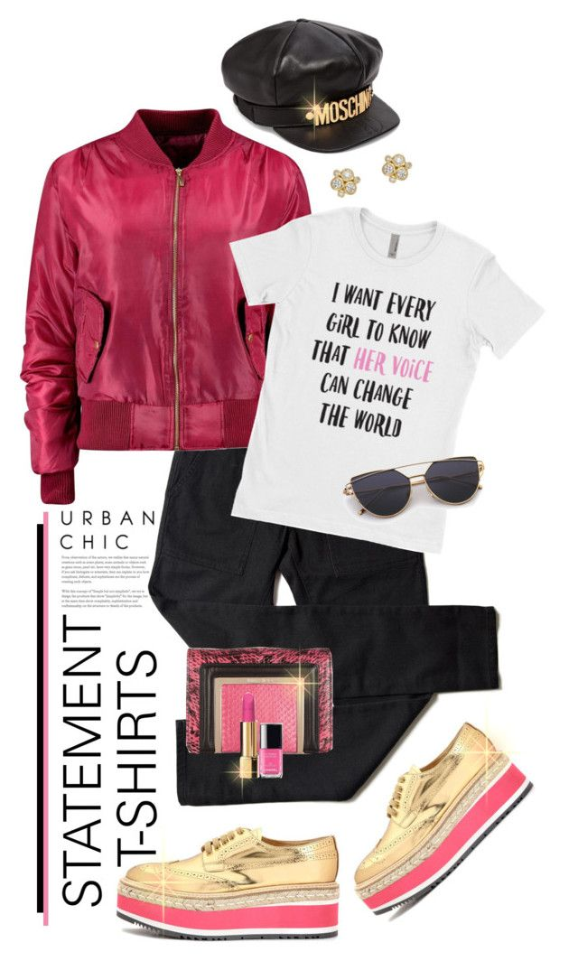 Say What Statement T Shirts Moschino Boohoo And Polyvore