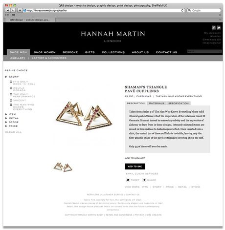Ecommerce Website For High End London Jewellery Designer Web Design Design Ecommerce Website