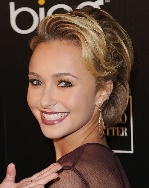Hayden Panettiere Short Hairstyle Flip Bangs Pretty Designs Prom Hairstyles For Short Hair Short Straight Haircut Celebrity Short Hair