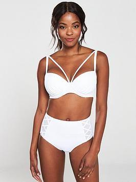 Pour Moi Beach Bound Underwired Padded Bikini Top – White