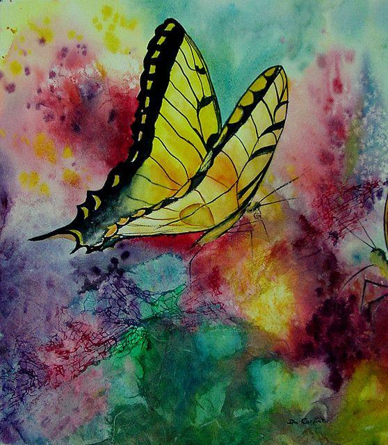 Original Watercolor Paintings | Butterfly Original Watercolor Painting | Flickr - Photo Sharing!