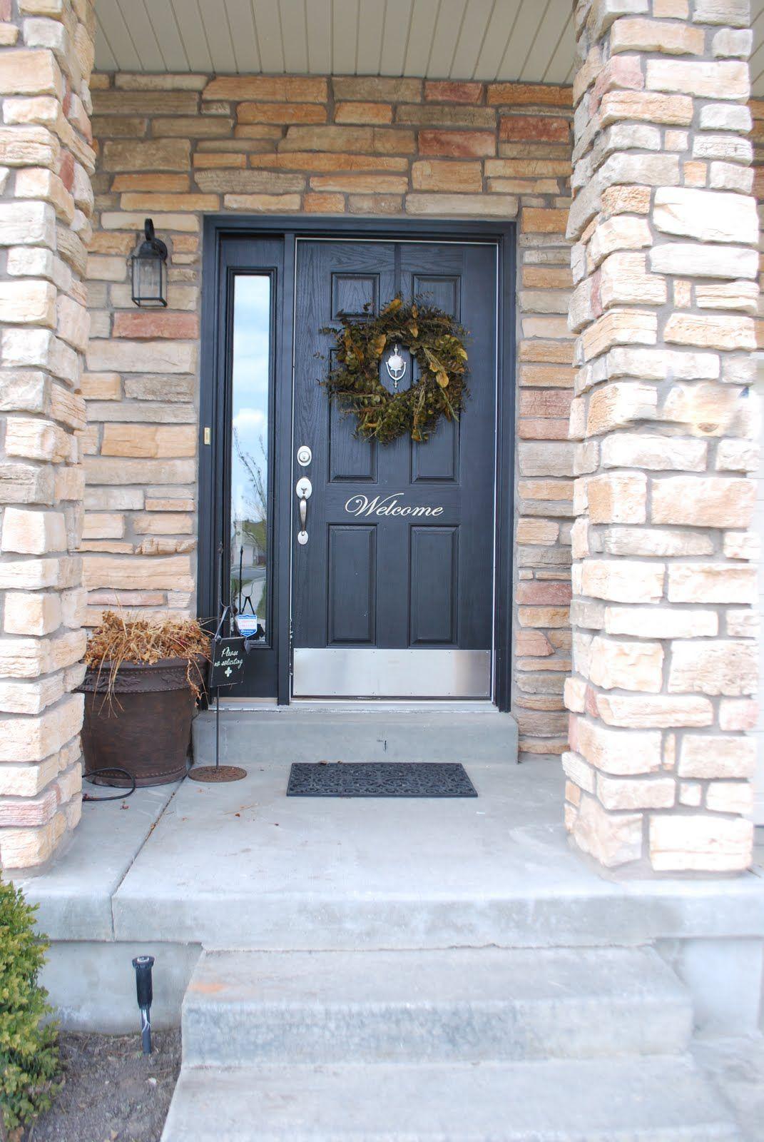 Painted front door hubby needs to paint our front entrance door