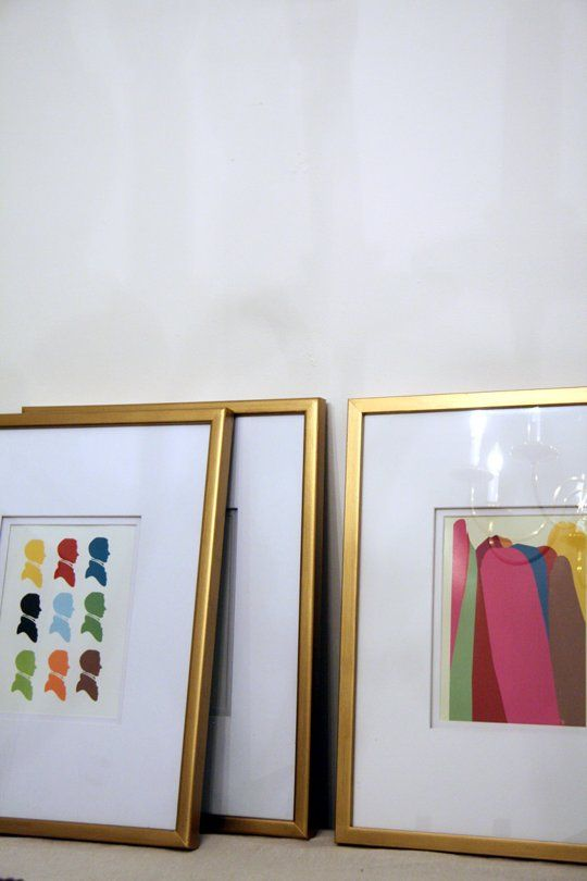 How To: Gold Frames on a Budget | Pinterest | Gallery wall ...