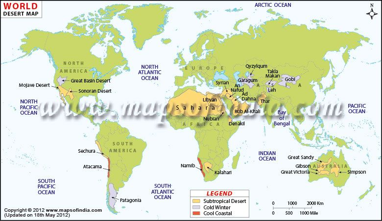 The distribution of different types of desert across the world the distribution of different types of desert across the world gumiabroncs