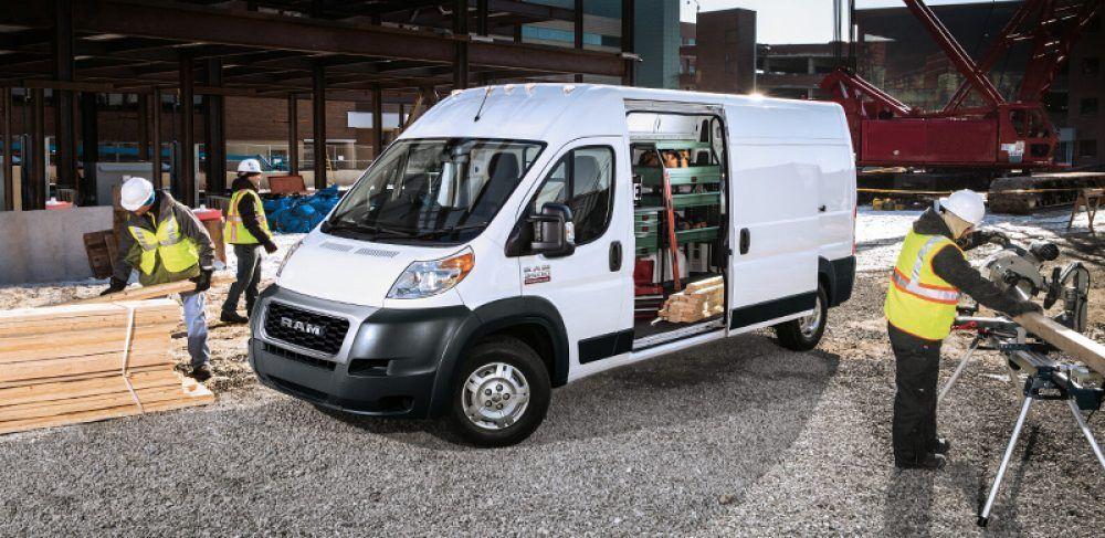 Ram Promaster Estacionada En Un Sitio De Construccion Cargo Van Ram Promaster Van