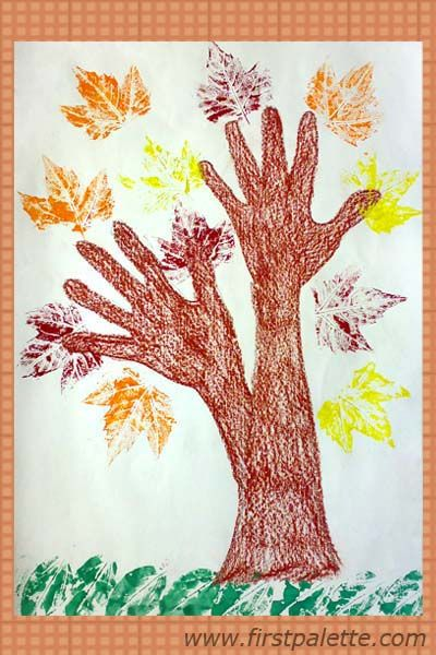 could use leaf rubbings to texture the