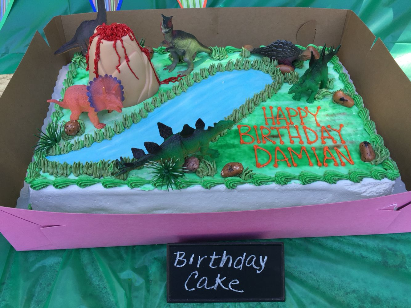 Damians 3rd birthday cake made by peters bakery in san