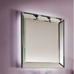 Specchio e specchiera bagno tray con luce led perimetrale for Specchio bagno con luce ikea
