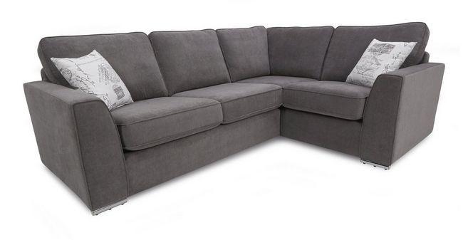 skill left hand facing corner sofa bed plaza dfs corner sofas rh pinterest co uk