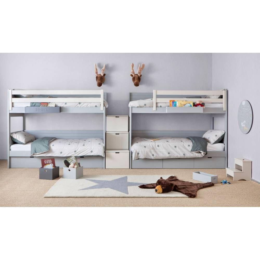 lits superposés Attis avec escalier de rangement en 2019 | Mobilier de salon, Meuble enfant et ...