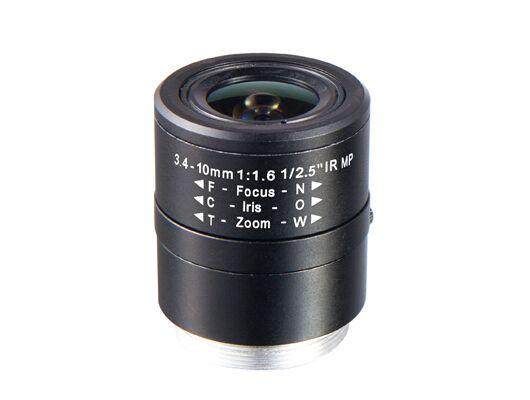 F1 6 1 2 5 Inch 3 4 10mm Cs Mount Megapixel Vari Focal Lenses Manual Iris Box Camera Lenses Machine Vision