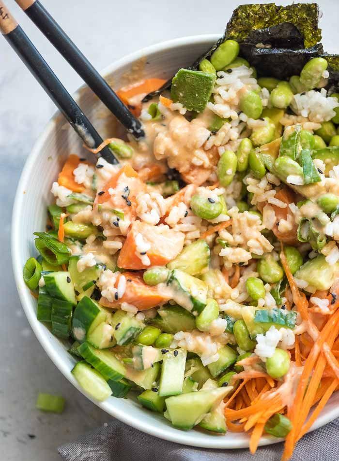 Sushi Bowl With Vegan Spicy Mayo