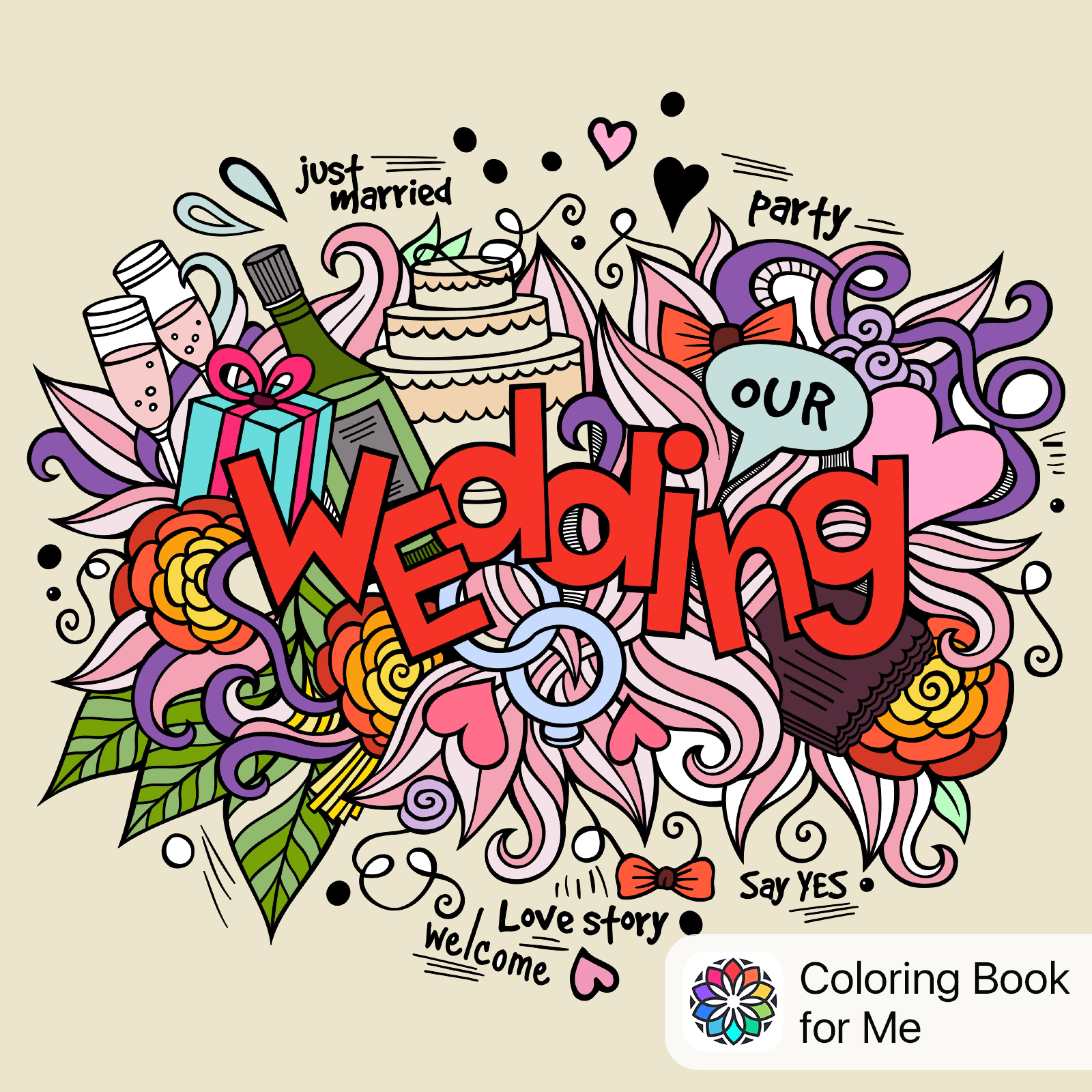 Coloreado Con Libro De Colorear Para Mí Scrapbooks En