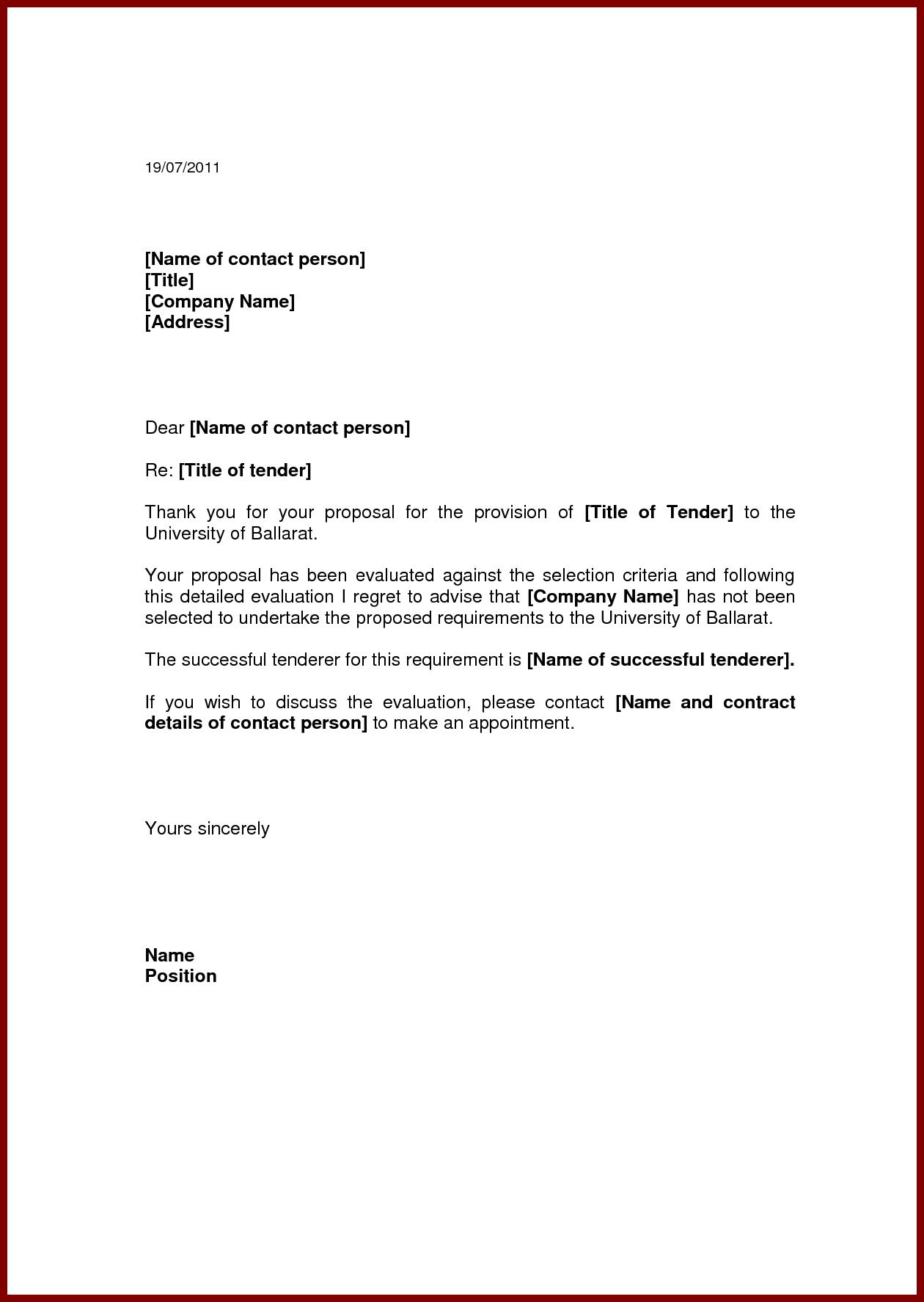 Tender Samplemple Documentg Sample Quotation Application Letter