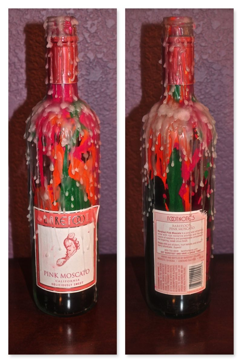 Diy Candle Stick Holders 1 Take An Empty Wine Bottle 2 Melt Crayons And Pour It Into The Bottle And Wine Bottle Candles Diy Candle Stick Holder Bottle Candles