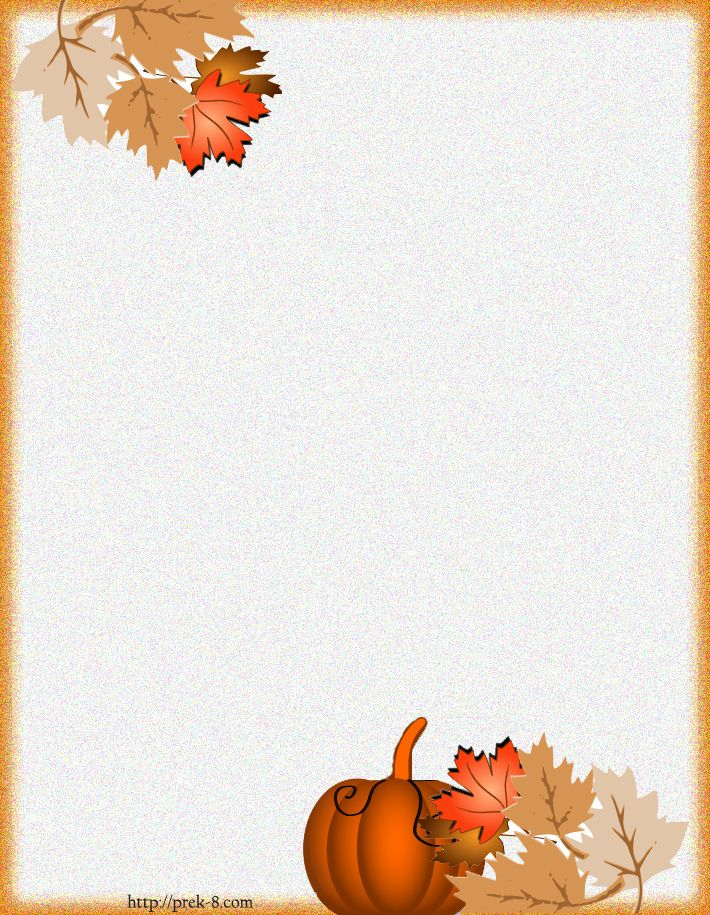 Holiday Paper Borders Printables fall harvest stationery - free paper templates with borders