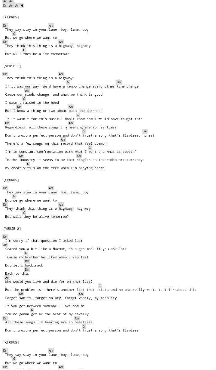 Lane Boy Guitar Chords No Capo After Last Chorus Repeat The Chorus