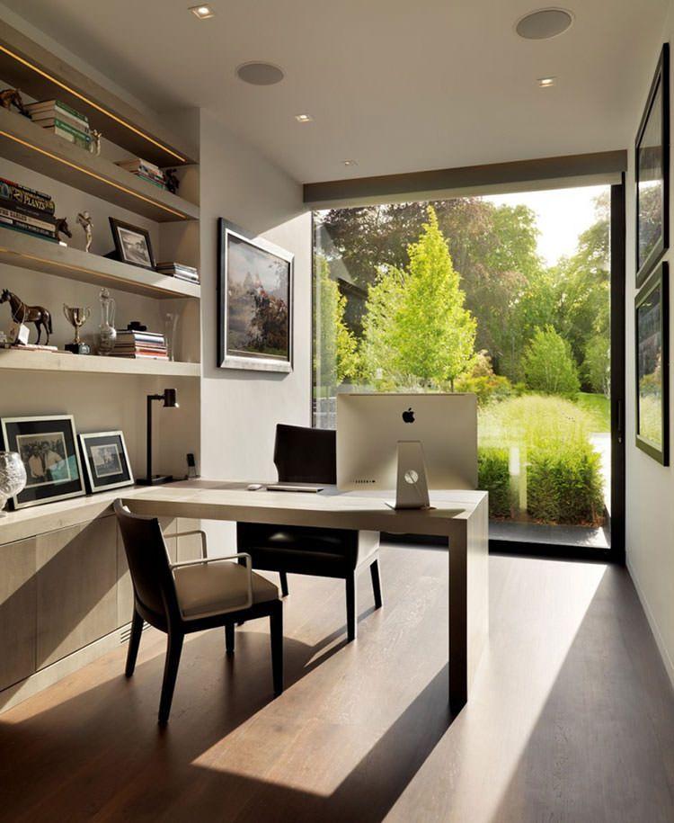 25 spettacolari idee di arredo ufficio a casa con vista for Arredamento case di lusso interior design