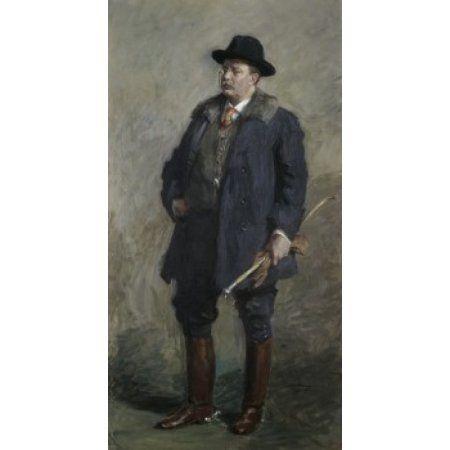 Theodore Roosevelt 26th President of the United States Gari Melchers (1860-1932 American) Canvas Art - Gari Melchers (18 x 24)