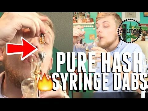 PURE DISTILLED HASH OIL dabs from a GLASS SYRINGE!!! - Crutch