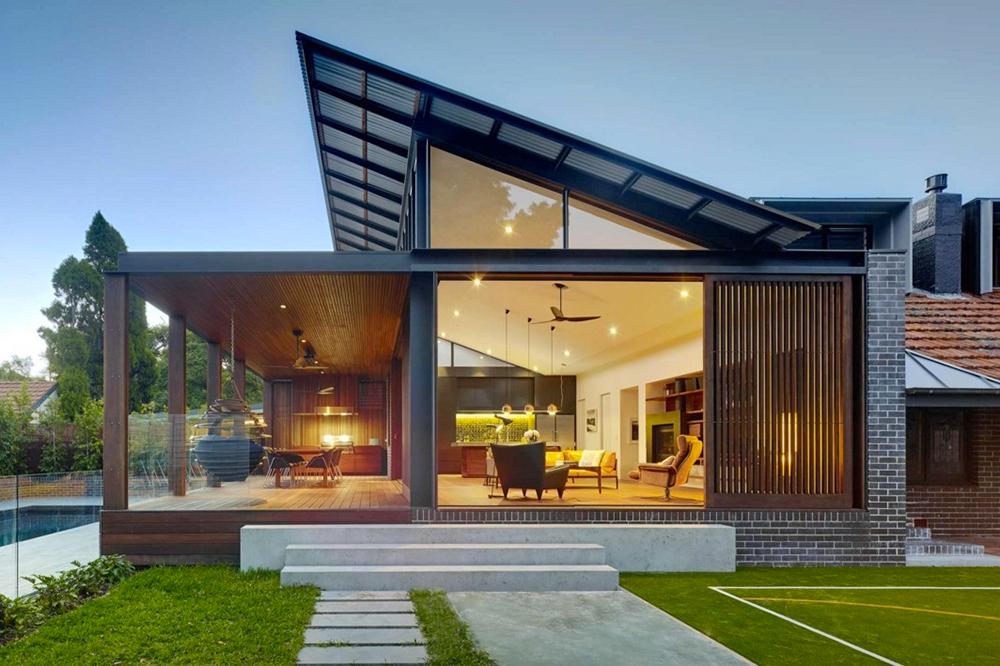 Compact Modern House 2019 Pesquisa Google Modern Roof Design Shed Roof Design Modern Beach House