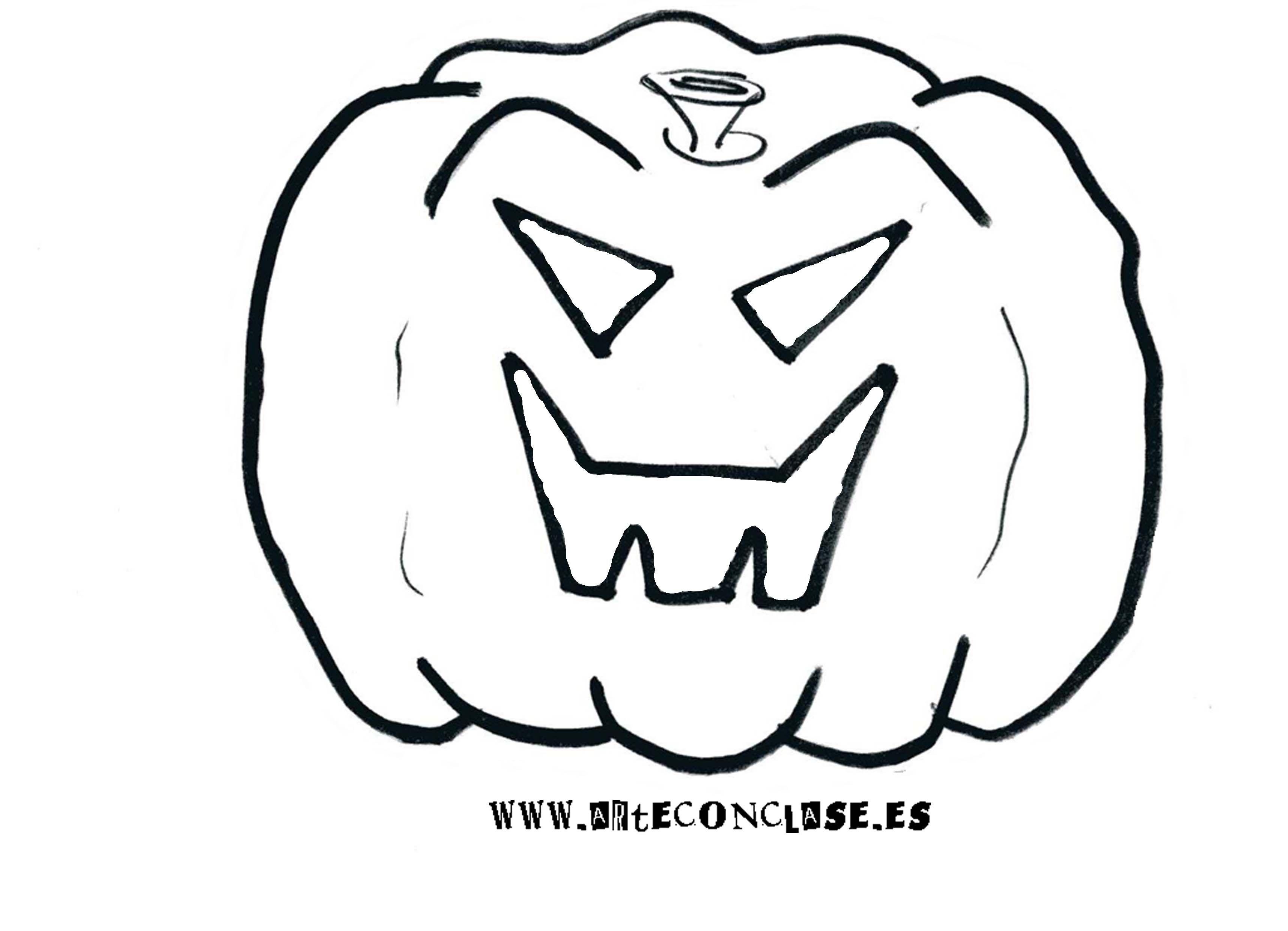 Modelo de calabaza 1 para #Halloween. | Festividades: Halloween ...