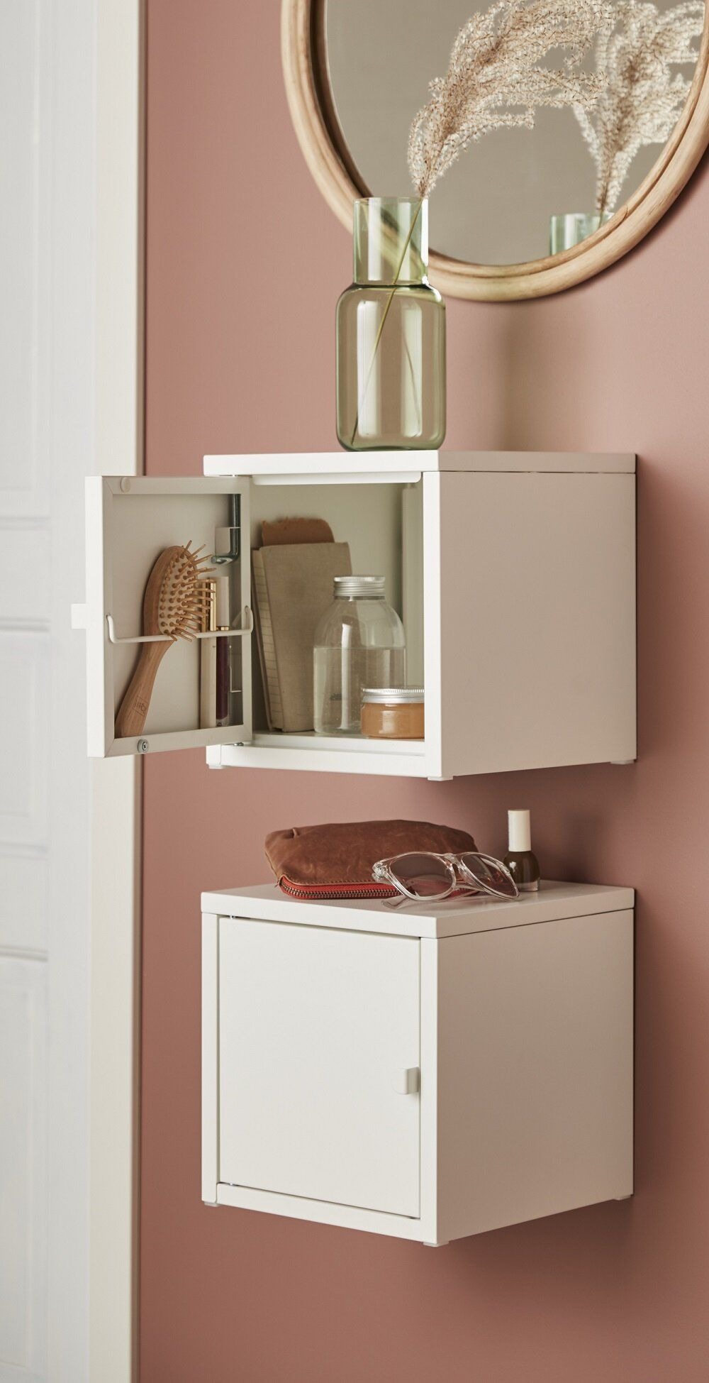 Small space organizing idea from IKEA with LIXHULT