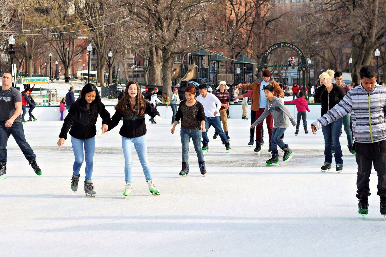 Outdoor Ice Skating Rinks Near Boston Open In 2020 2021 Mommy Poppins Things To Do With Kids Outdoor Ice Skating Ice Skating Rink Skating Rink