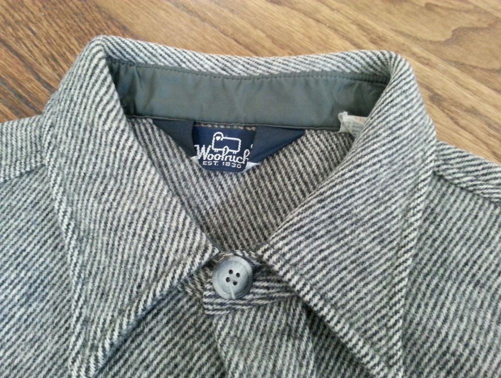 Vtg Mens Woolrich Heavy Wool Tweed Hunting Shirt Jacket sz XXL in ...