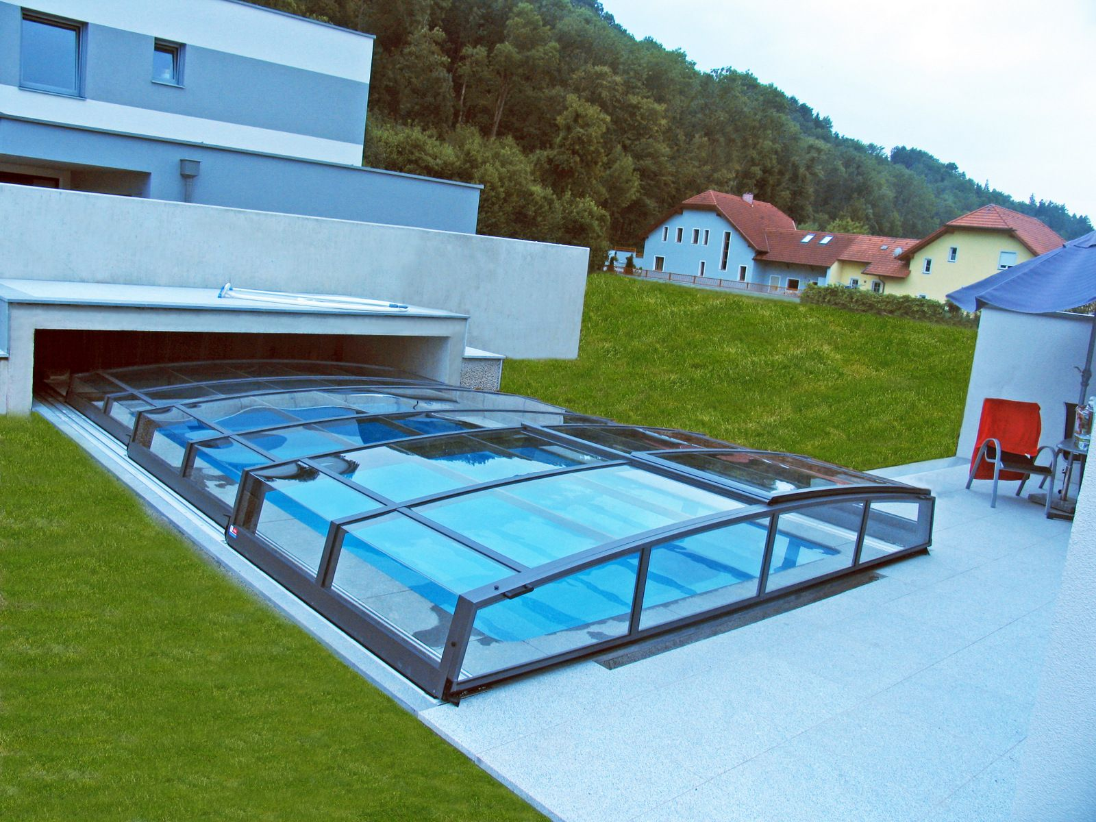 Amazing ... And Outdoor Floor Tiles Besides Outdoor Flooring Options Garden Design  Ideas Landscaping Design Stainless Pool Loungers Retractable Pool Enclosure