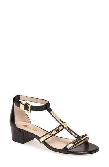 2e353ea939e black and gold low block heel sandals (also in nude)  40% now during  Nordstrom s Half Yearly Sale!!