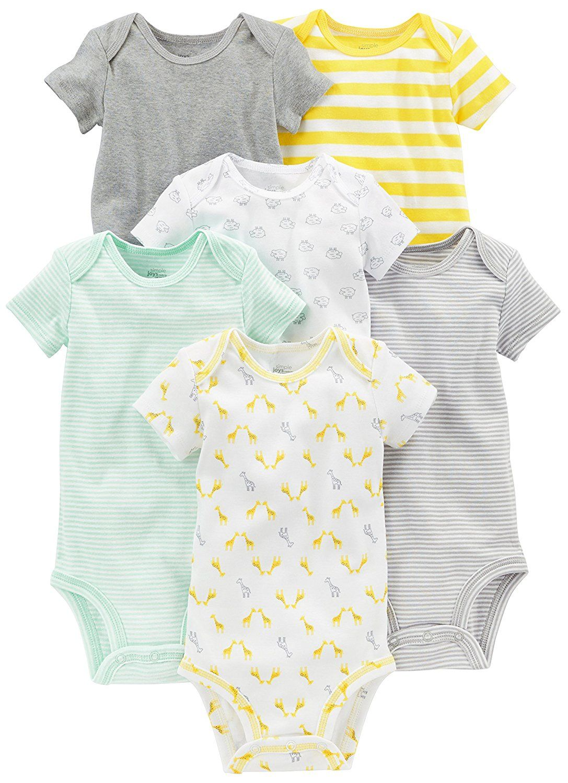 432b22c6c8 Amazon.com  Simple Joys by Carter s Baby 6-Pack Short-Sleeve Bodysuit