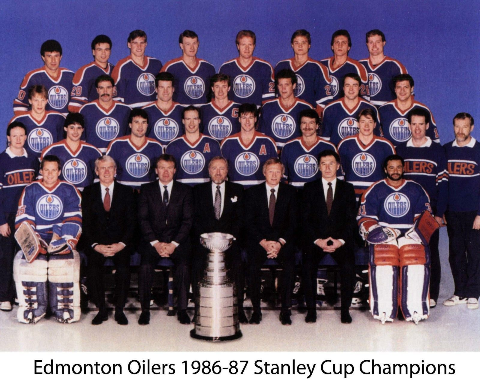 Edmonton Oilers 1986 87 Stanley Cup Champs Team Nhl Hockey 8x10 Glossy Photo Edmonton Oilers Oilers Nhl Hockey
