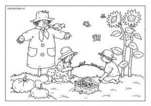 in de tuin kleurplaat kleuters kleuteridee nl dagmar