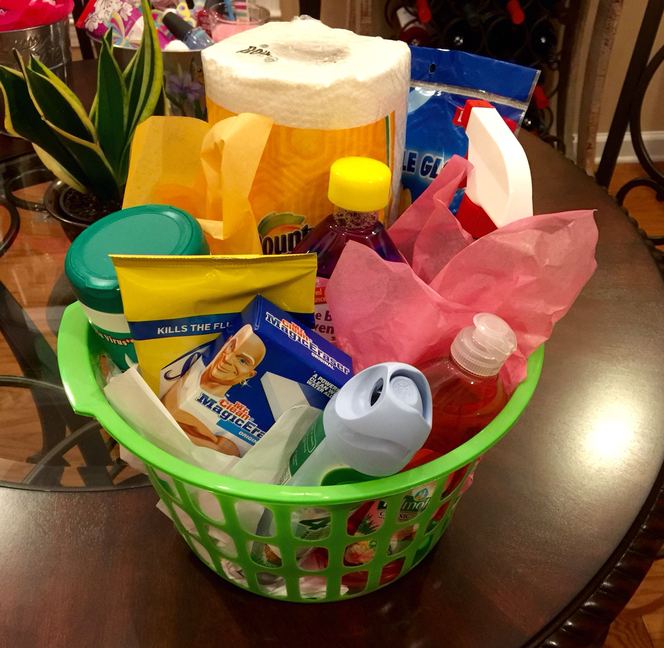 Home Design Gift Ideas:  Home Cleaning Gift Basket Made By Me. Everything From The