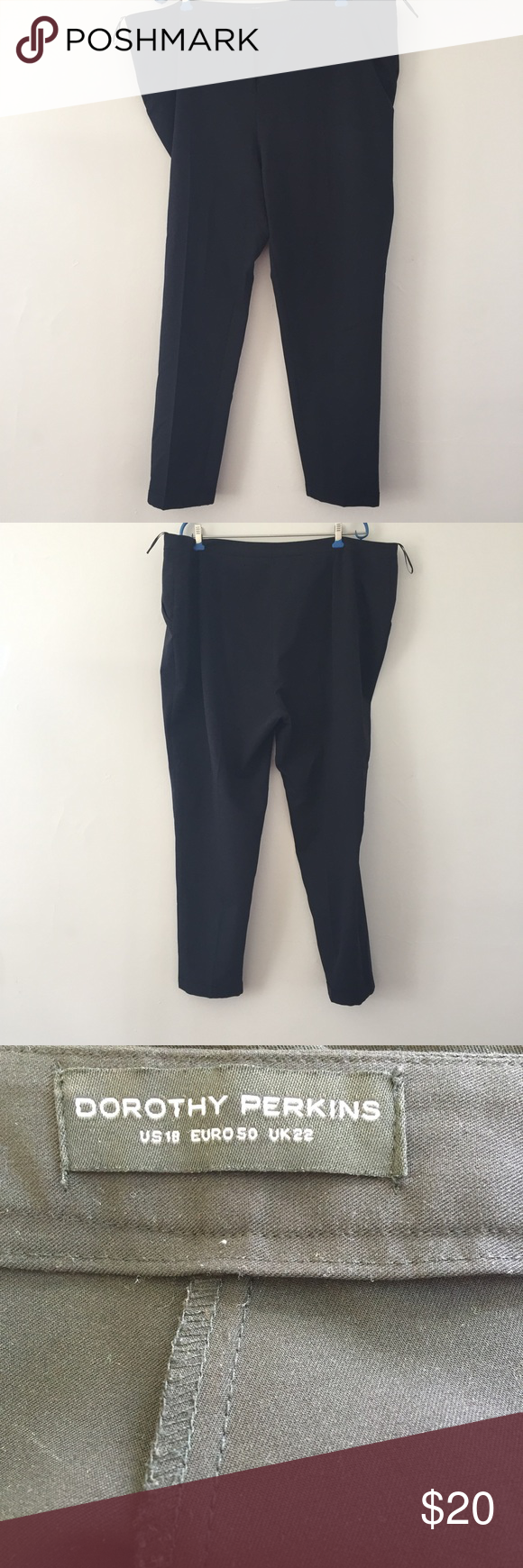 """Black Skinny Leg Work Pants Simple black trouser ankle pants perfect for the office. Dorothy Perkins size 18. Laid flat, waist measures 21"""", 28"""" inseam. In great condition. Dorothy Perkins Pants Skinny"""
