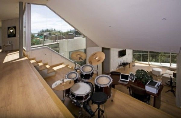 a charming home music studio idea