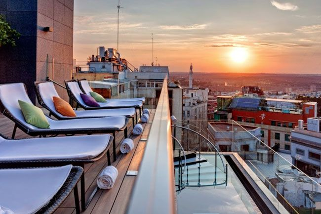 Las 24 Terrazas Más Cool De Madrid Sky Lounge Bar Hotel
