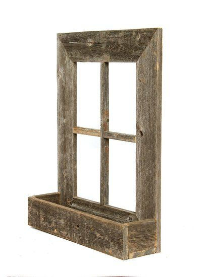 Rustic Wooden Window Planter Frame - 100% Reclaimed Wood | old wood ...