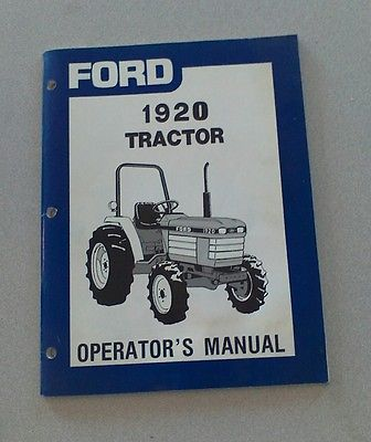 ford 1920 tractor operator 039 s manual tractor manuals rh pinterest com ford 1920 tractor parts manual ford 1920 tractor operator manual